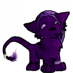 Lil feral chibi Fey. Done by Dizzy if I remember rightly.